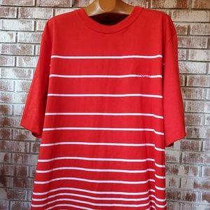 Girbaud Red and White Shirt